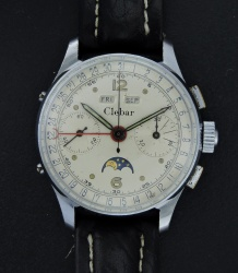 Clebar Triple Date Moonphase Chronograph