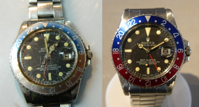 Rolex GMT Before and After Restoration